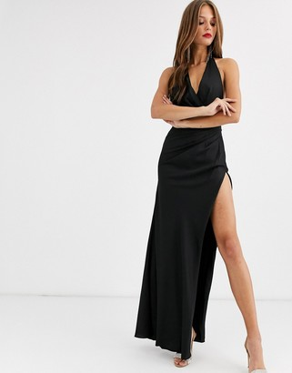 ASOS EDITION halter split side maxi dress