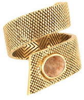 House Of Harlow 1960 Tanta Crosshatch Silk Stone Ring