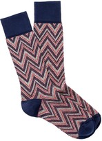 J.Mclaughlin Flame Stitch Jacquard Socks