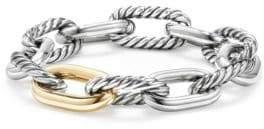 David Yurman Madison Chain Large Bracelet With 18K Gold