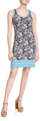 Max Studio Sleeveless Floral-Print Dress