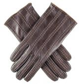 Black Dark Brown and Tan Italian Leather Gloves