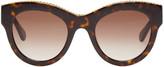 Stella McCartney Tortoiseshell Cat-Eye Chain Sunglasses