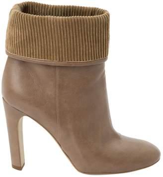 Stella McCartney Stella Mc Cartney Beige Leather Ankle boots