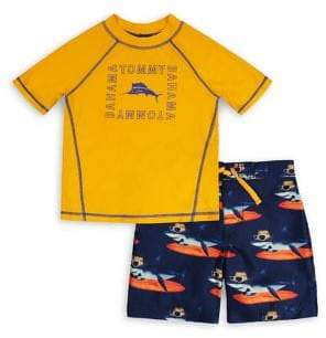 Tommy Bahama Little Boy's 2-Piece Rashguard & Trunks Set