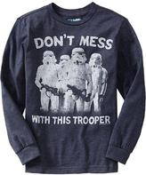 """Star Wars Boys Star Wars™ """"Don't Mess With This Trooper"""" Tees"""