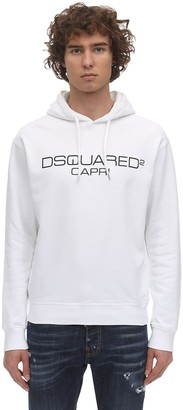 DSQUARED2 Logo Print Cool Guy Cotton Jersey Hoodie