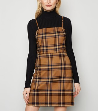 New Look Check Pinafore Dress