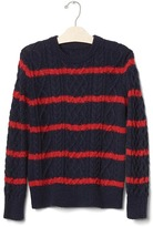 Gap Striped cable knit sweater