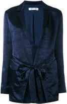 Victoria Beckham tie-fastened blazer - women - Cotton/Polyester/Viscose - 8