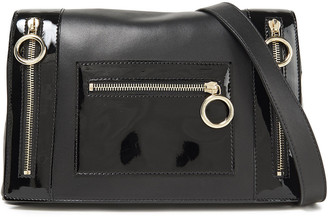 Boutique Moschino Smooth And Patent-leather Shoulder Bag