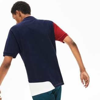 Lacoste Men's L.12.12 Color-Blocked Thermoregulating Pique Polo
