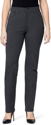Gloria Vanderbilt Women's Casual Pants HEATHER - Heather Gray Amanda Short Ponte Skinny Jeans - Petite