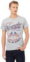 Wrangler Grey Slogan Printed T-shirt