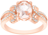 Bliss Pink & White Cubic Zirconia Oval-Cut Ring
