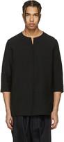 Attachment Black Oversized Linen Shirt