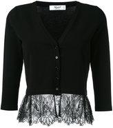 Blugirl lace hem cardigan - women - Polyester/Viscose - 40