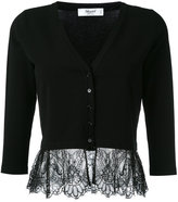 Blugirl lace hem cardigan - women - Polyester/Viscose - 42