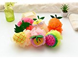 Baby Shower Party Gift Sets, Shower Sponge with Fruit Pattern 6 Pack
