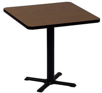 """High Square Bar and Cafe Table Correll, Inc. Size: 42"""" Square, Color: Walnut"""