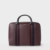 Paul Smith Men's Burgundy Leather 'City Webbing' Slim Folio