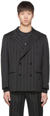 MSGM Black Pinstripe Blazer