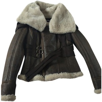 DSQUARED2 Brown Shearling Leather Jacket for Women