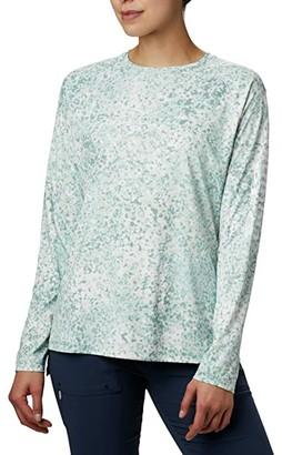 Columbia PFG Tidal Deflectortm Long Sleeve (Black Fade) Women's Long Sleeve Pullover