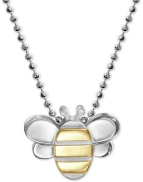 18 Hallmark Jewelry Sterling Silver Bumble Bee /& Flower Pendant Necklace