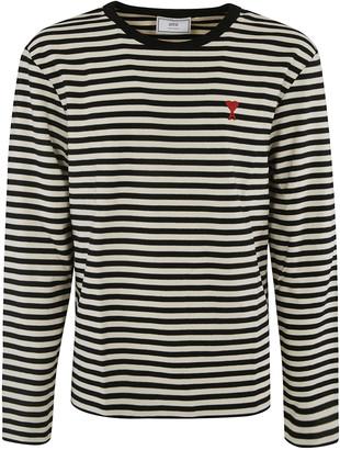 Ami Alexandre Mattiussi Chest Logo Striped Sweater