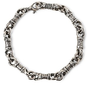 John Varvatos Collection Sterling Silver Artisan Metals Chain Link Bracelet