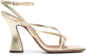 L'Autre Chose High-Heel Gold Strappy Sandals