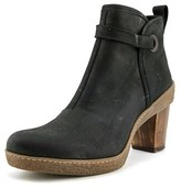 El Naturalista Nf71 Women Round Toe Leather Black Ankle Boot.