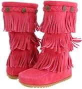 Minnetonka Kids - 3-Layer Fringe Boot Girls Shoes
