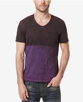 Buffalo David Bitton Men's Kiprint Colorblocked V-Neck T-Shirt