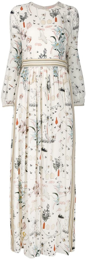 Tory Burch Printed Maxi Dress