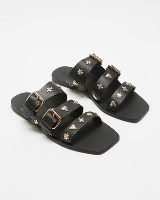 Sol Sana Women's Black Flat Sandals - Eastwood Slides - Size 36 at The Iconic