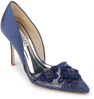 Badgley Mischka Ophelia Embellished Slip-On Pumps