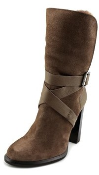 Calvin Klein Jeans Tanya Women Round Toe Suede Gray Ankle Boot.