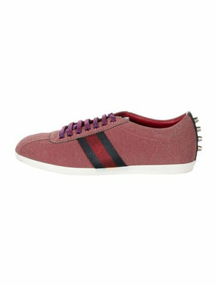 Gucci Sylvie Web Accent Sneakers Pink