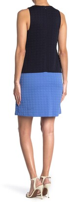 Eliza J Sleeveless Colorblock Shift Dress