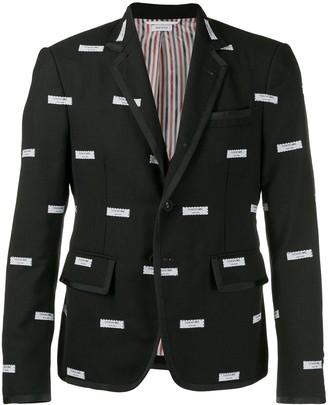 Thom Browne Fresco Label embroidered sports blazer