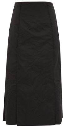 Brock Collection Pietraluna Crinkle-effect Technical Skirt - Black