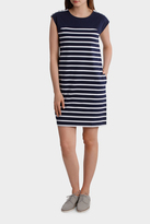 Button Trim Stripe Dress