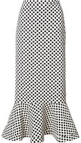 Saloni polka dots midi skirt