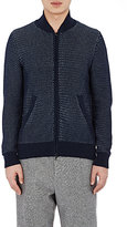 Orley ORLEY MEN'S BIRDSEYE-KNIT BASEBALL CARDIGAN