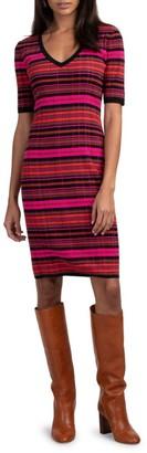 Trina Turk Stunning Striped Knit Dress