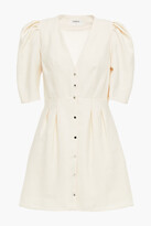 Thumbnail for your product : BA&SH Astrid Pleated Lyocell-blend Mini Dress