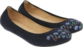 Accessorize Isabelle Elasticated Embroidered Ballerina Flats
