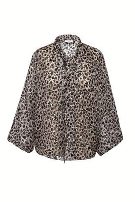 Gerard Darel Short Silk And Lurex Kimono